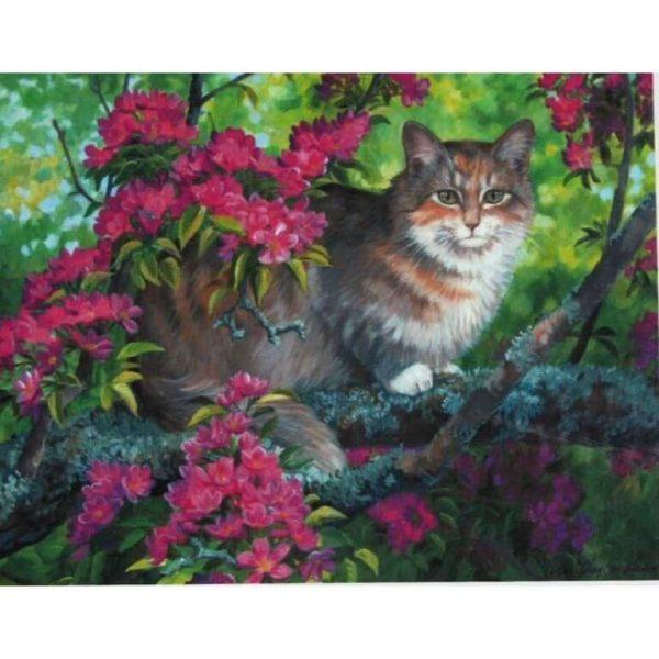 Картина по номерам Кошка на дереве