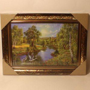 Картина (репродукция) Цапли у реки
