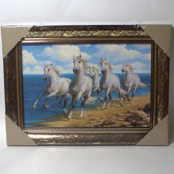 Картина Табун белых лошадей