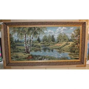 Картина гобелен Река