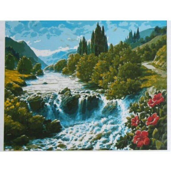 Картина по номерам Горная река