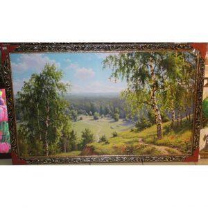 Картина (репродукция) Берёзы на холме