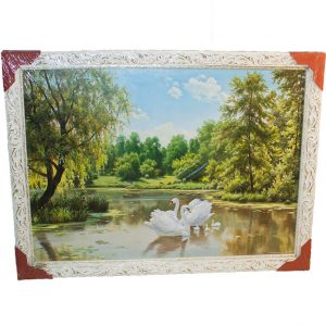 Картина (репродукция) Лебеди