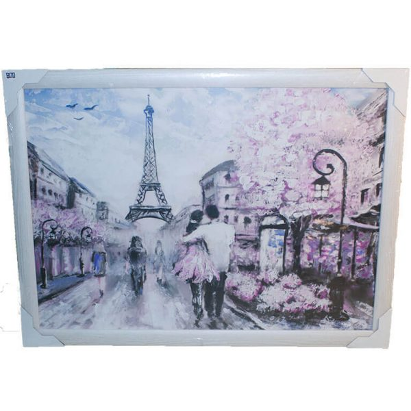 Картина (репродукция) Влюблённые в Париже