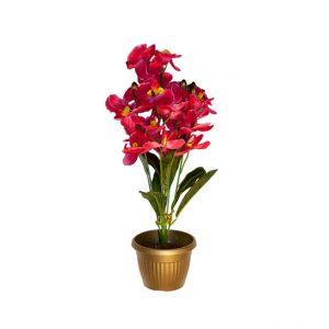 Искусственные цветы Орхидеи в горшке