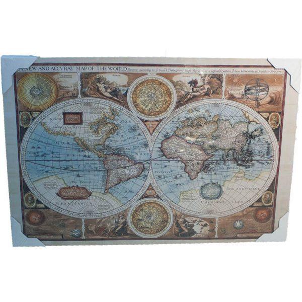 Картина (репродукция) Старая карта мира