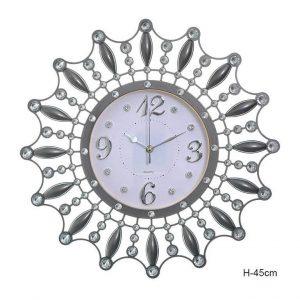 Часы настенные Снежинка со стразами
