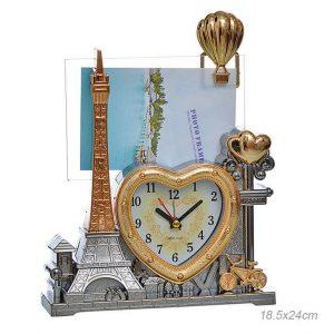 Часы настольные с фоторамкой Париж