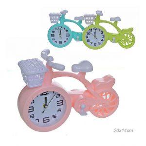 Часы настольные Велосипед с корзиной