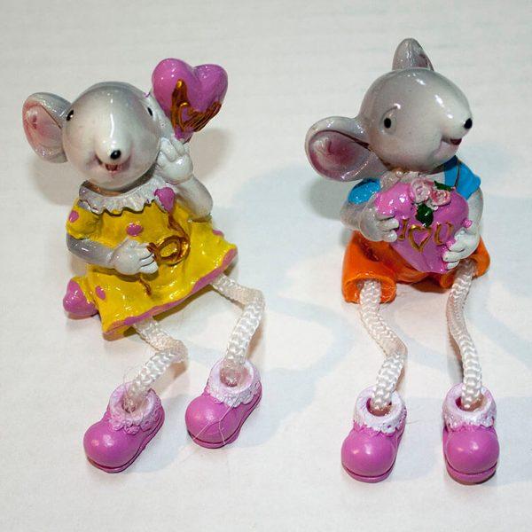 Статуэтка Крыса ножки верёвочки Фото 1
