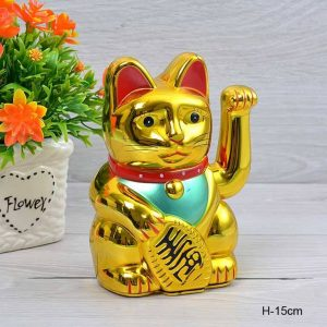 Сувенир фэншуй Денежный кот 15 см
