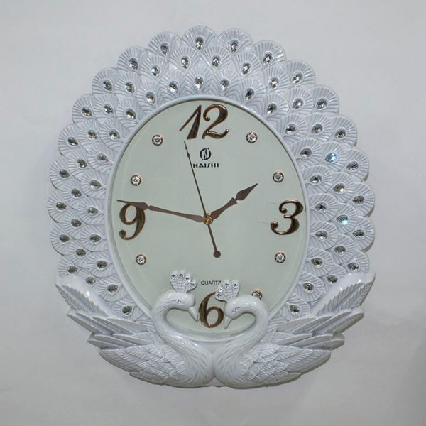 Часы настенные Haishi Павлины белые