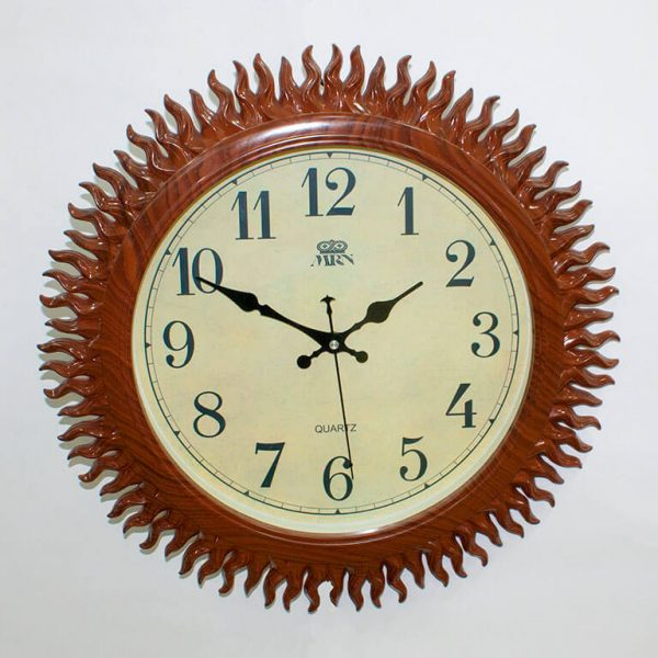 Часы настенные Mirron Солнце коричневые
