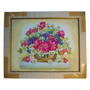 Картина (гобелен) Цветы в корзине
