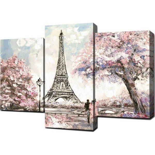 Картина модульная Весна в Париже