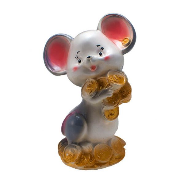 Копилка Мышь с монетами