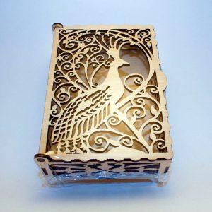 Шкатулка деревянная Жар-птица фото 1