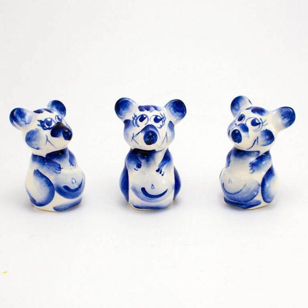 Статуэтка Мышь Гжель