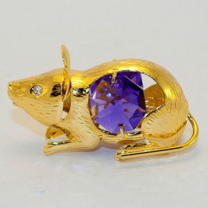 Статуэтка Мышь кристаллы Сваровски