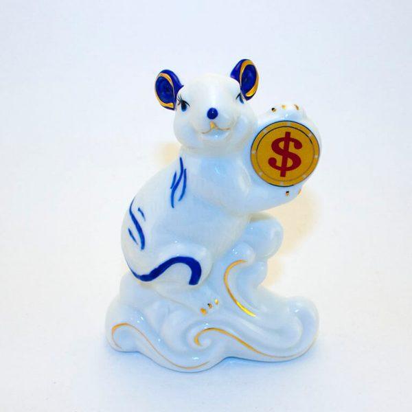 Статуэтка Мышь с монетой