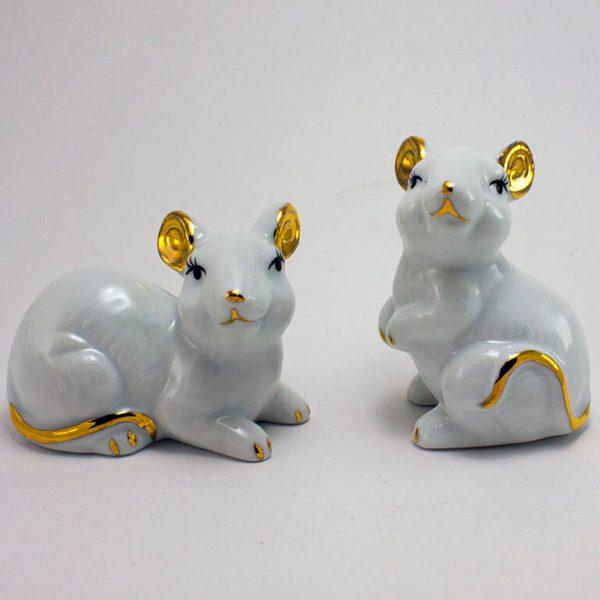 Статуэтка Мышка белая