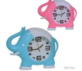 Часы настольные Слоник 20×17 см
