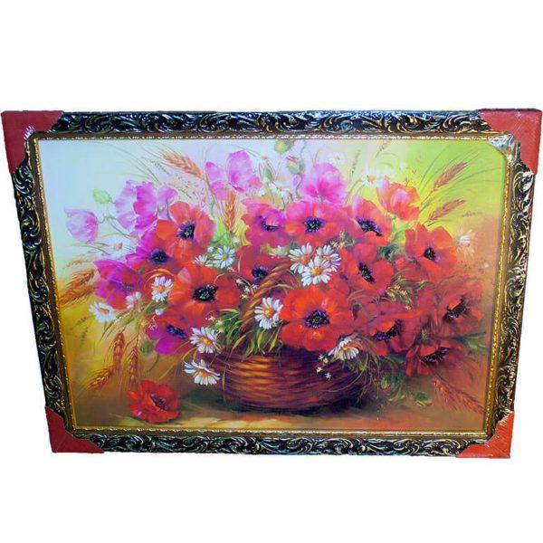 Картина (репродукция) Цветы в корзине
