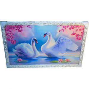 Картина (репродукция) Лебеди KR044