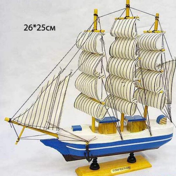 Модель парусного корабля 26x25 см