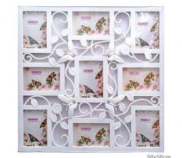 Фотоколлаж Бабочки 9 фото 56×56 см