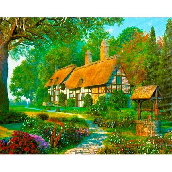 Картина по номерам Домик в саду