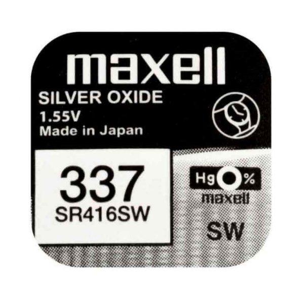 Батарейка Maxell 337