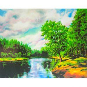 Картина по номерам Река