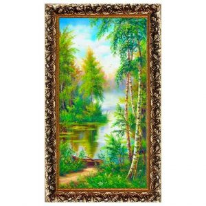 Картина (репродукция) Лодка у реки