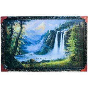Картина (репродукция) Медведи у водопада