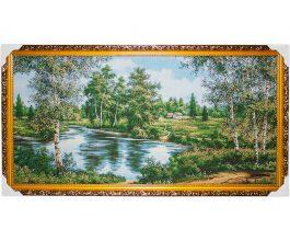 Картина (гобелен) Берёзы у реки