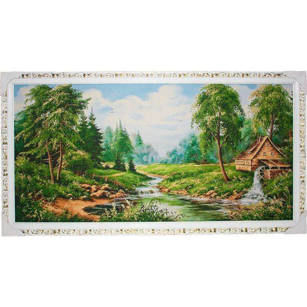 Картина (гобелен) Мельница у реки
