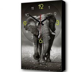 Часы картина Слон