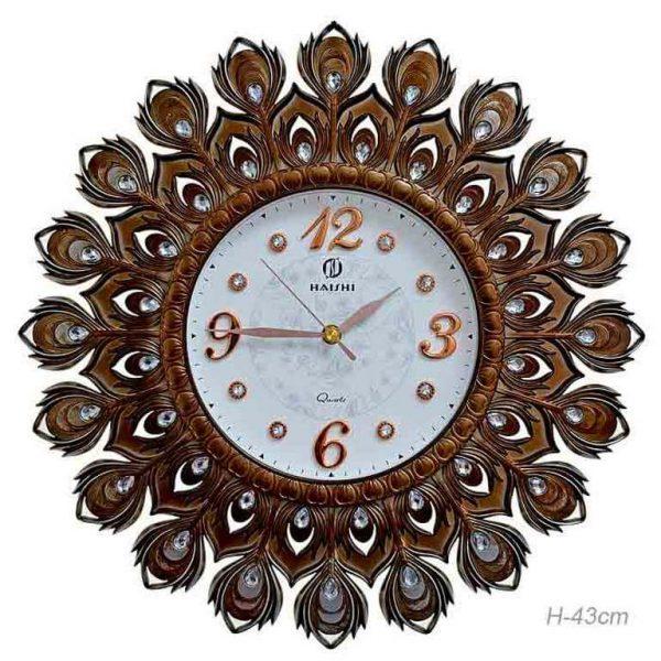 Часы настенные Haishi Перья павлина