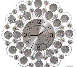 'Часы настенные Ракушки серебро 50 см