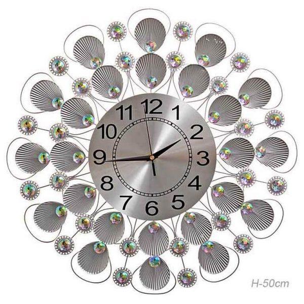 Часы настенные Ракушки серебро