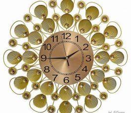 'Часы настенные Ракушки золото 50 см