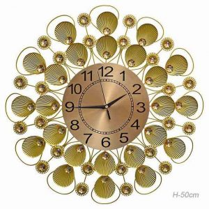 Часы настенные Ракушки золото