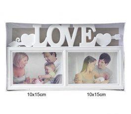 Фотоколлаж Любовь 2 фото 32*18 см