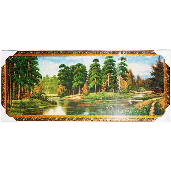 Картина (гобелен) Лесная речка